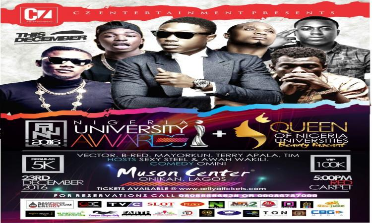NIGERIA UNIVERSITY AWARDS + QUEEN OF NIGERIA UNIVERSITIES BEAUTY PAGEANT