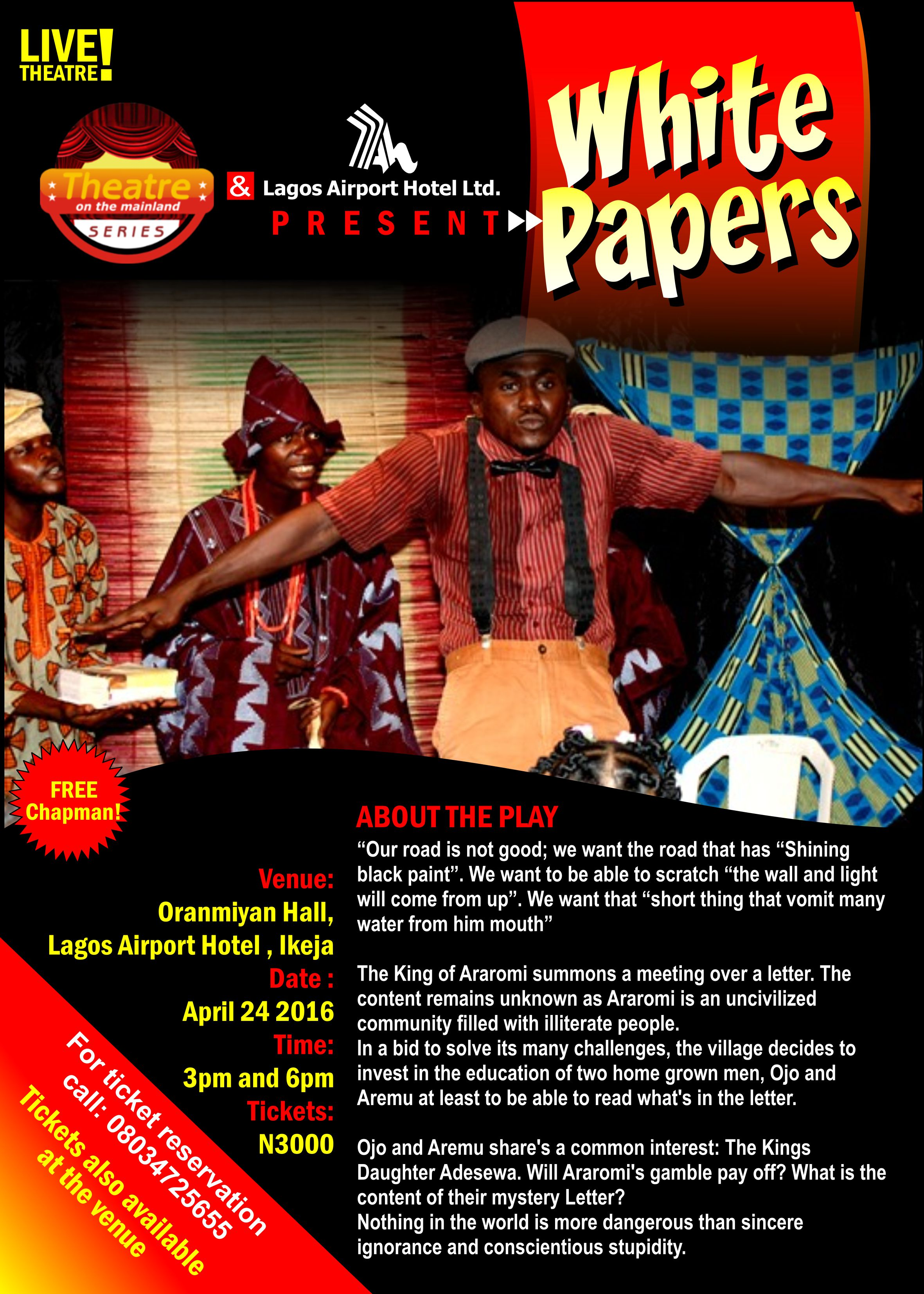 White Papers At Lagos Airport